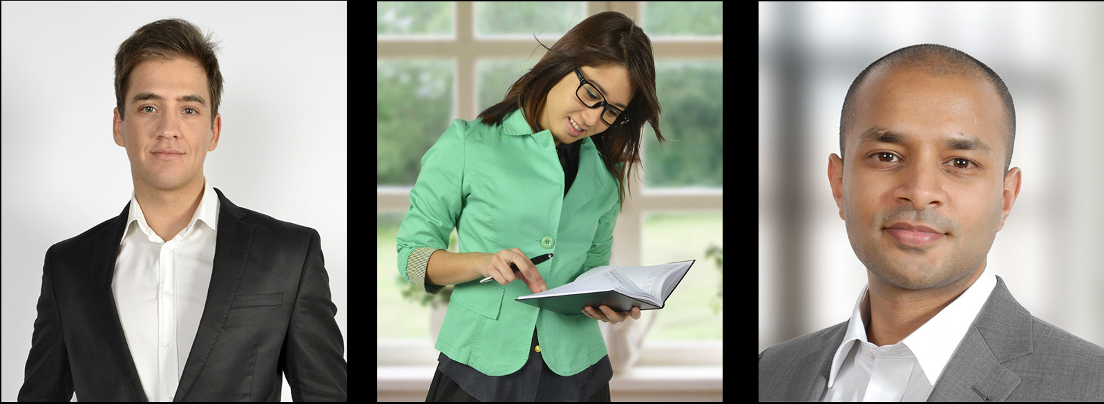 Mitarbeiter Portrait; Business Portrait; Fotostudio;Mitarbeiterfoto in den Räumlichkeiten einer Firma, mit unscharfem Hintergrund Portrait; Personen; Preise; sympathisch; kompetent. Business-Portraits; Firmenportraits. beliebige Hintergründe